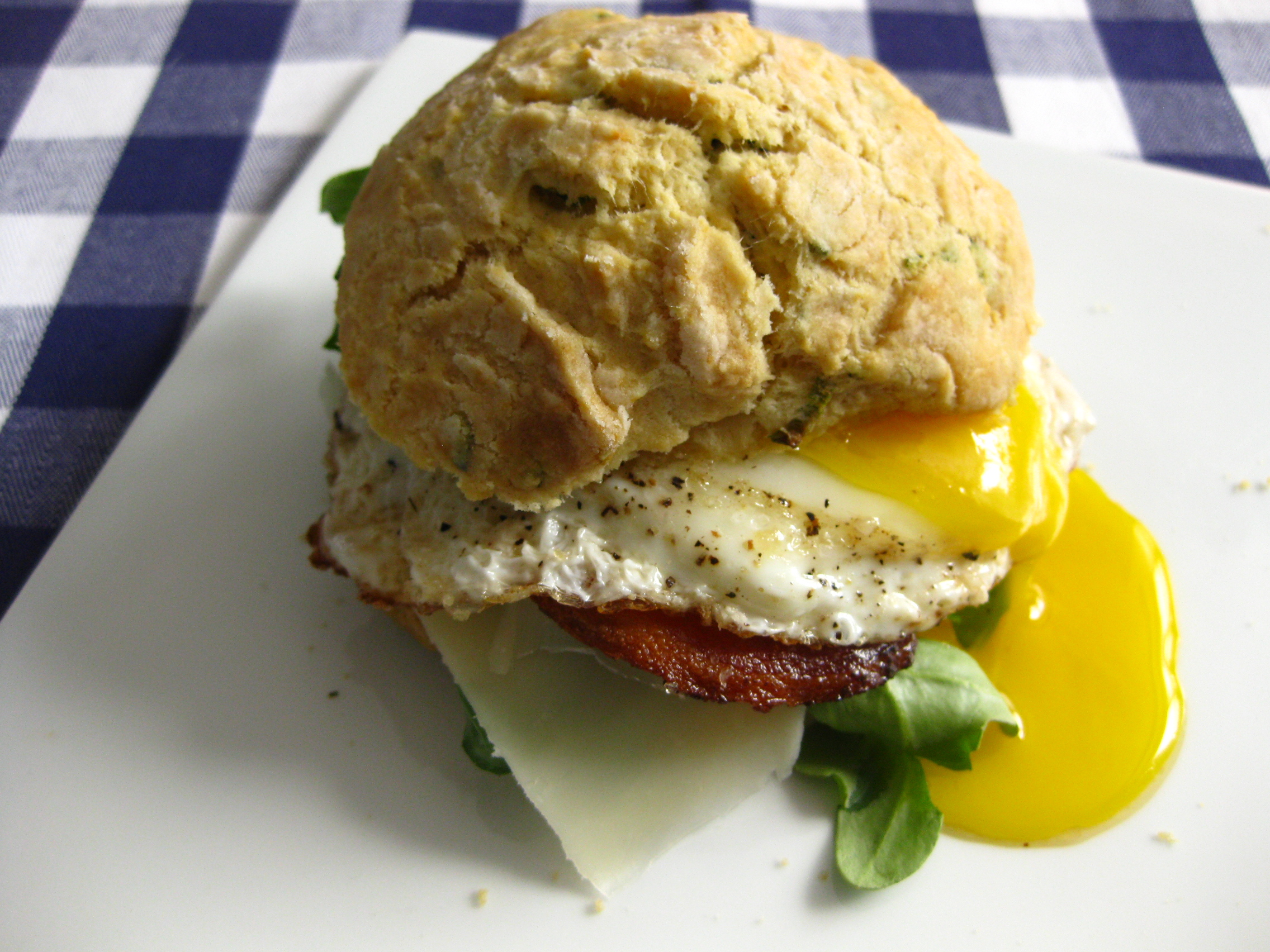 Sage Biscuits and Fried Egg Sandwiches
