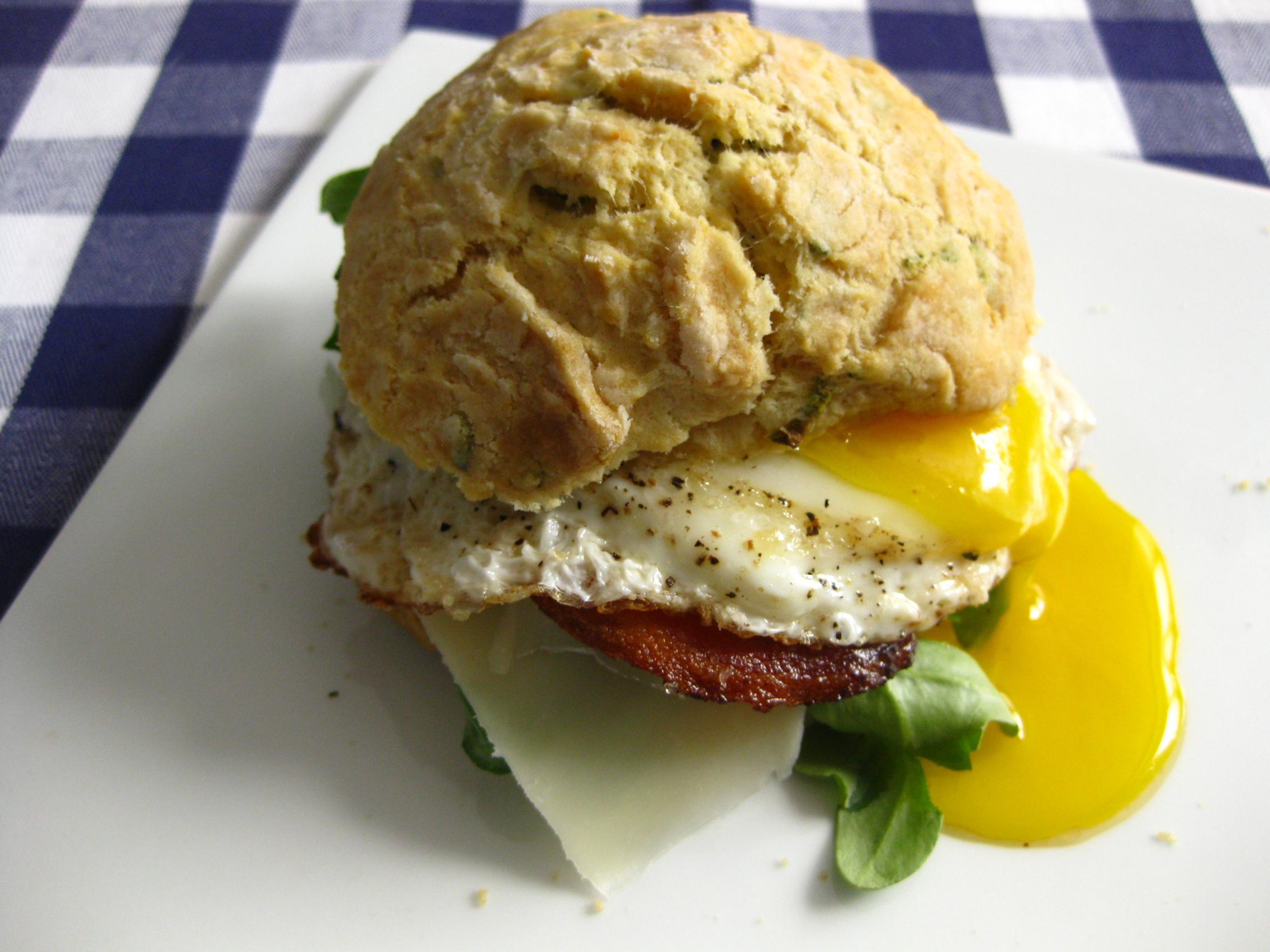 Egg Sandwich on Sage Biscuit- Meatballs&Milkshakes