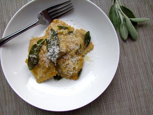 Squash Ravioli with Crispy Sage - Meatballs&Milkshakes