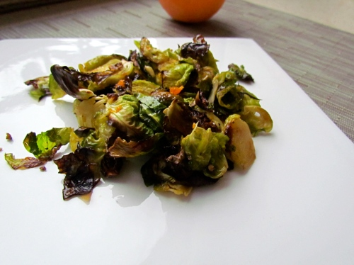 Crispy Orange- Scented Brussels Sprouts - Meatballs&Milkshakes