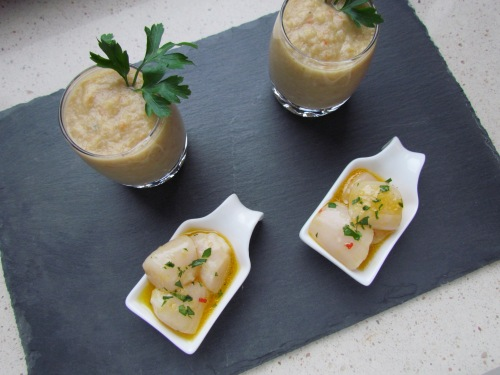 Bay Scallop Crudo with Tangerine - Meatballs&Milkshakes